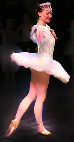 Picture of Heather performing Snow Queen